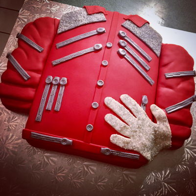 Michael Jackson Zipper Jacket French Vanilla w/ strawberry purée buttercream.