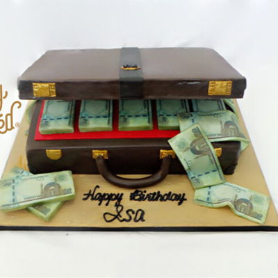 Money Briefcase Design Cake