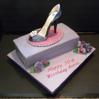 Shoe Fondant Shoebox Cake With Stiletto Hill