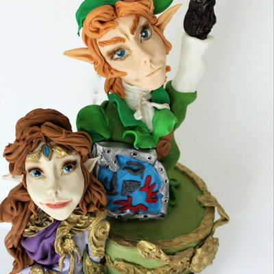The Legend Of Zelda Hi everyone , this is my piece for Arcade Game Collab ,inspired by arcade game The Legend of Zelda , it's made with model paste and...