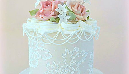 Romantic Lace Cake