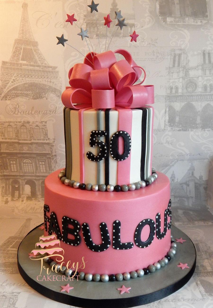50 & Fabulous Cake - CakeCentral.com