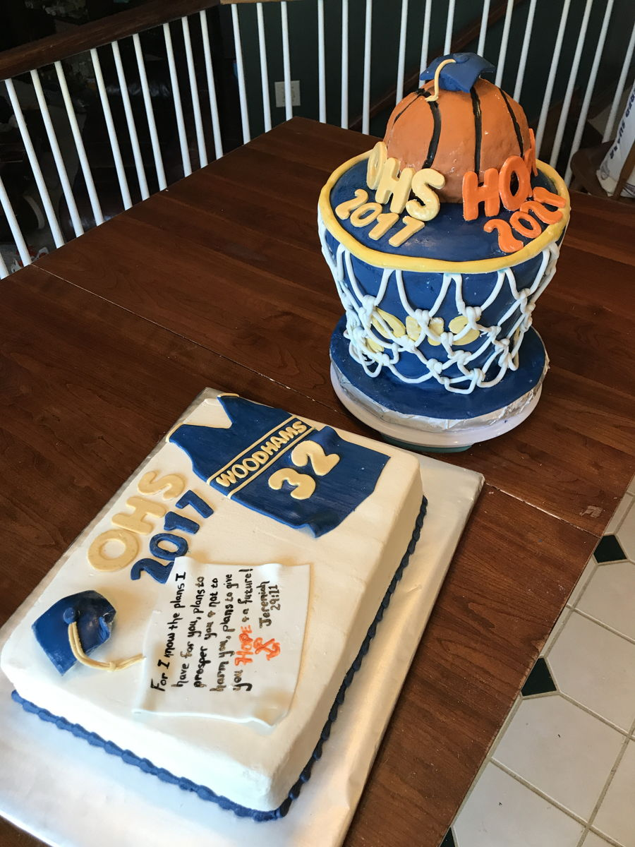 Basketball Themed High School Graduation Cake CakeCentralcom