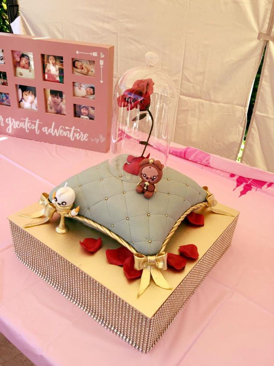 Beauty And The Beast Themed Pillow Cake Cakecentral Com