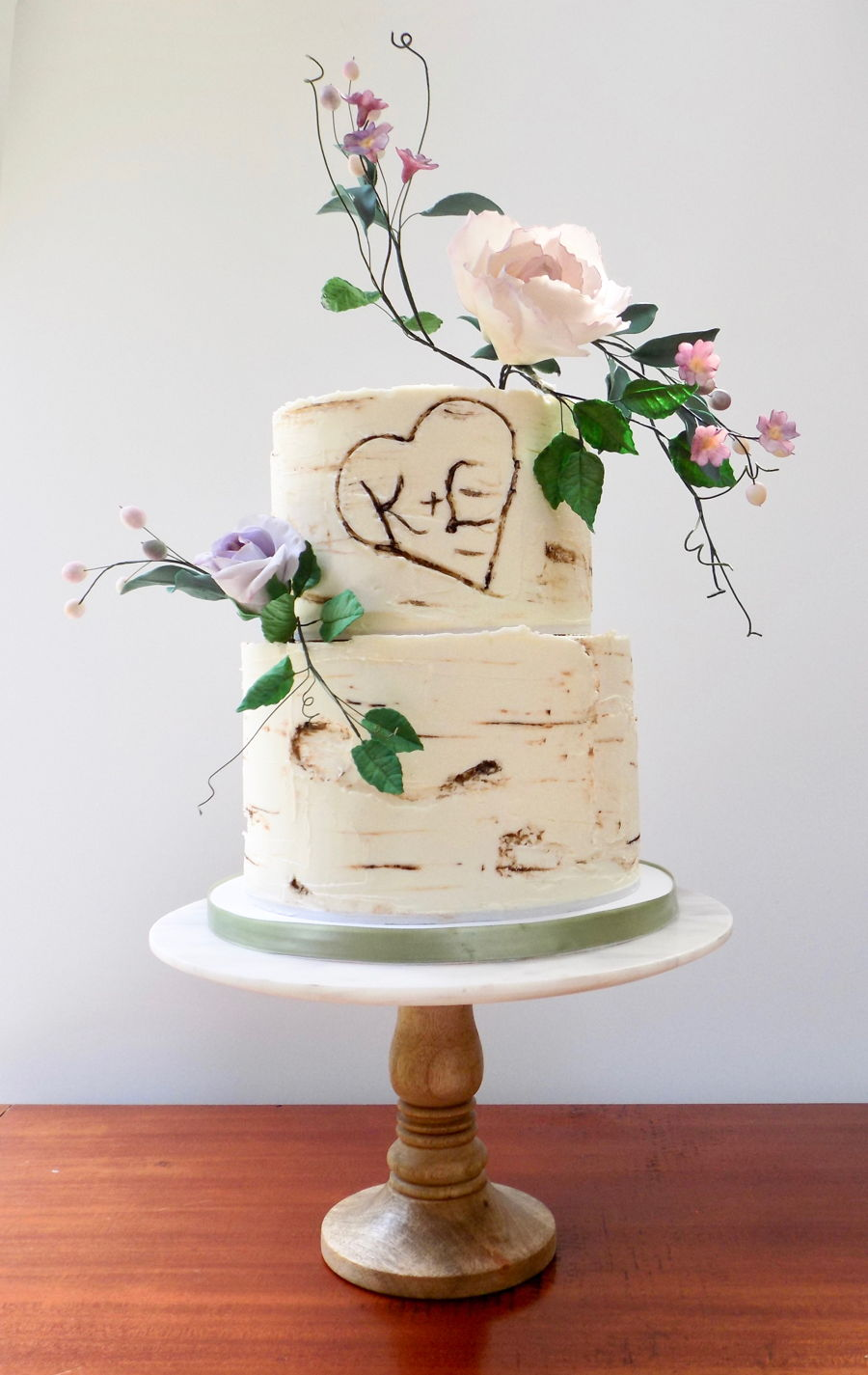Birchbark Wedding Cake on Cake Central
