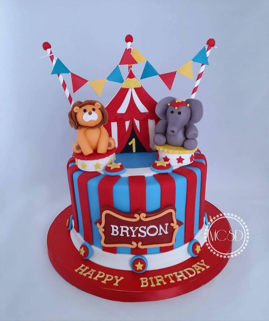 Awesome Carnival Circus 1St Birthday Cake Cakecentral Com Personalised Birthday Cards Paralily Jamesorg