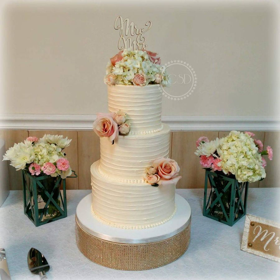 Charming Rustic Wedding Cake on Cake Central