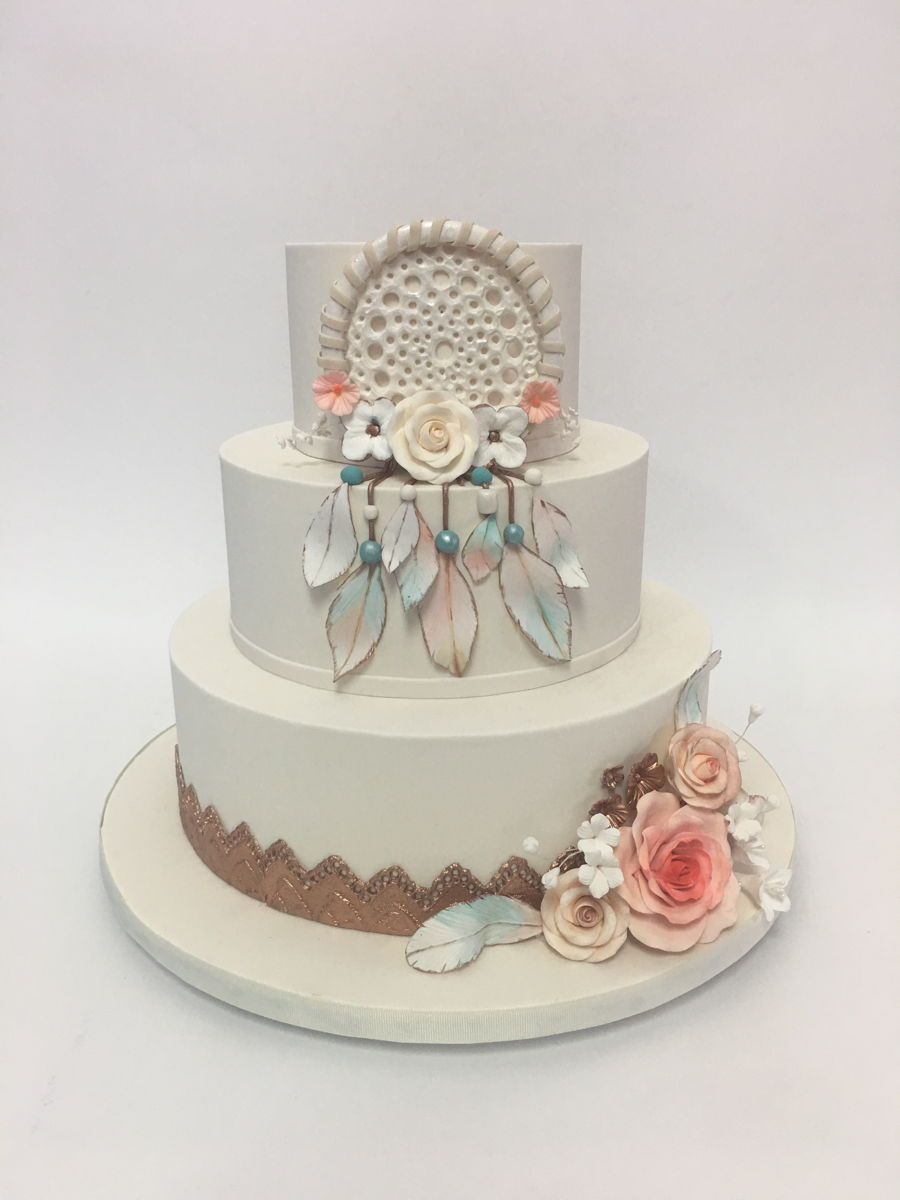 Decorating A Cake With Buttercream And Fondant