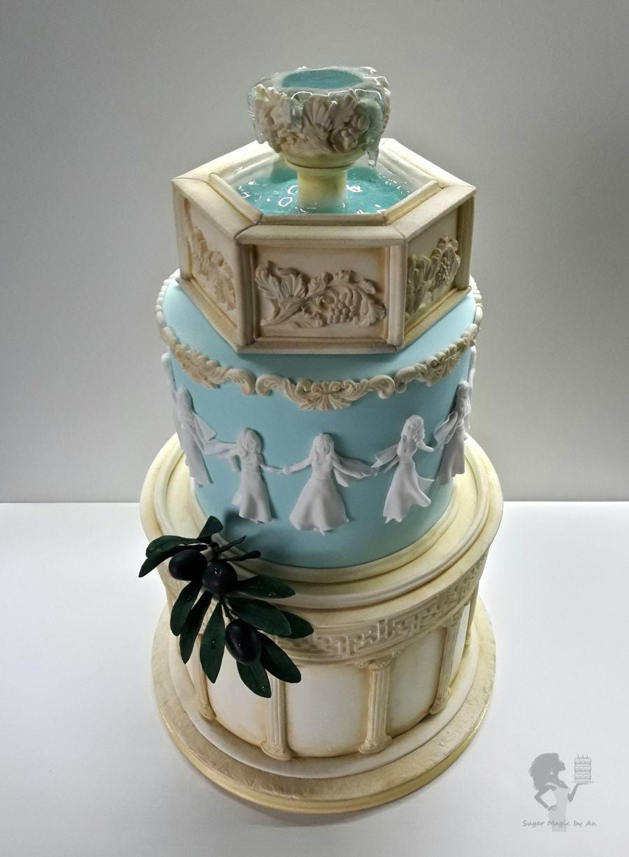 Greek Themed Birthday Cake - CakeCentral.com