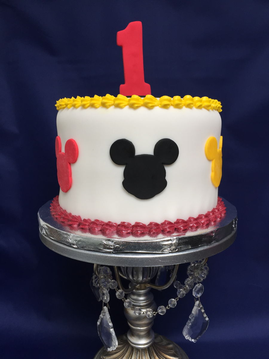 It's A First Birthday Baptism Mickey Theme Cake on Cake Central