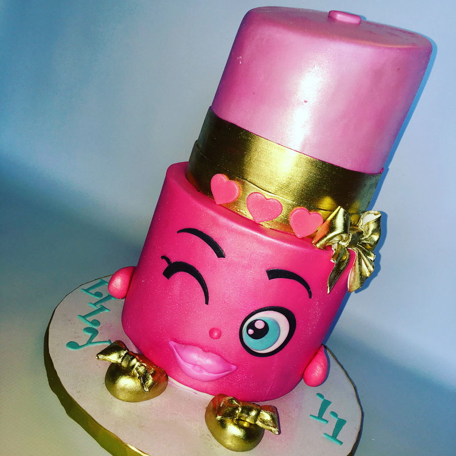 Lippy Lips Shopkin Cake For Lily On Cake Central