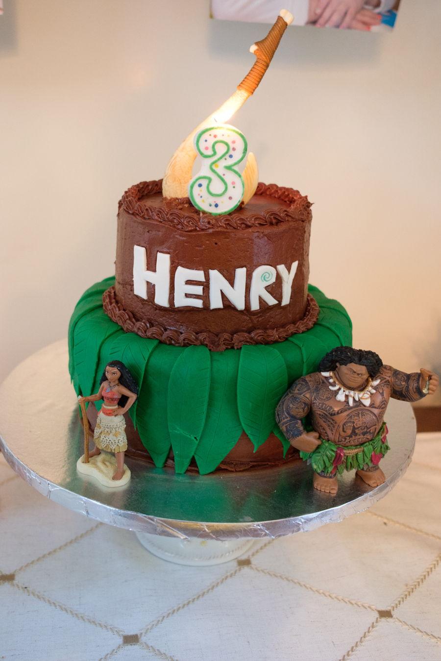 Maui And Moana Birthday Cake Cakecentral