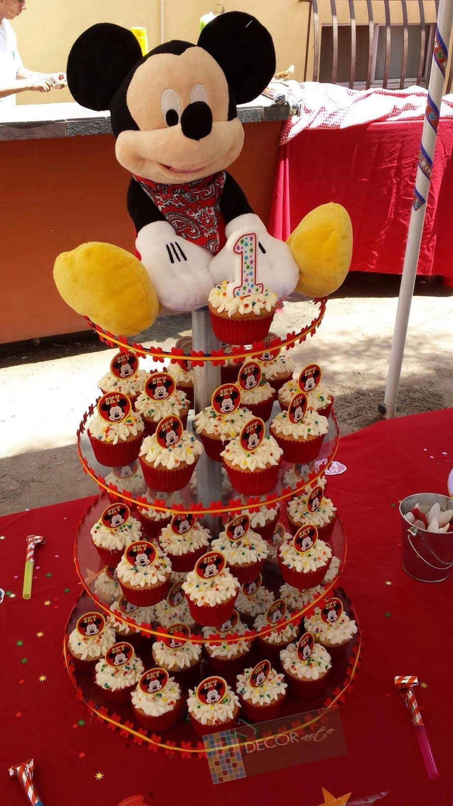 Remarkable Mickey Mouse Cupcake Tower Cakecentral Com Funny Birthday Cards Online Inifofree Goldxyz