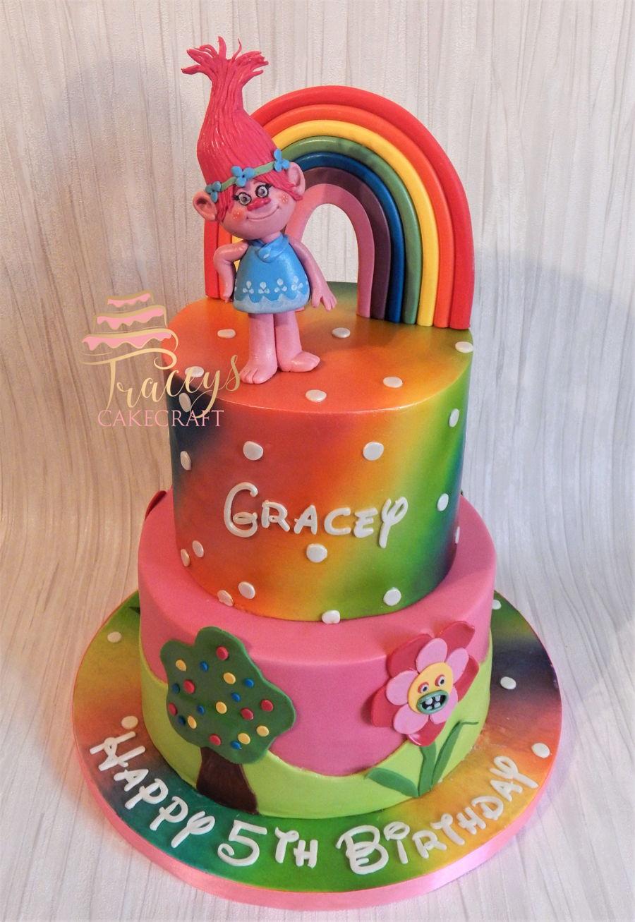 Poppy Birthday Cake - CakeCentral.com
