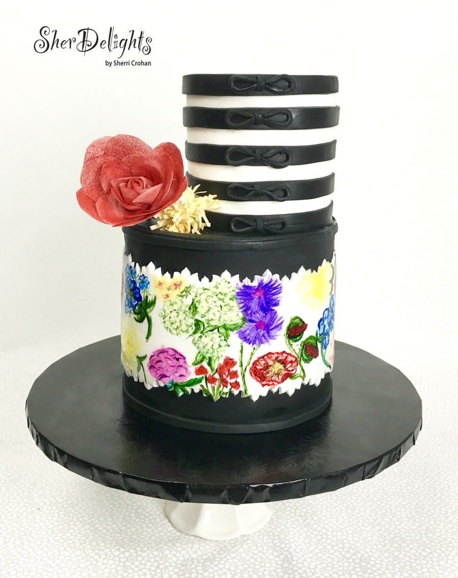 Pretty Painted Florals on Cake Central