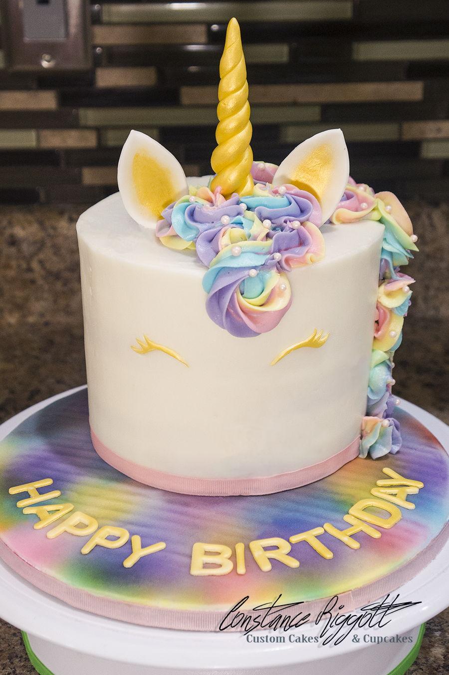 Rainbow Unicorn Cake Cakecentral Com