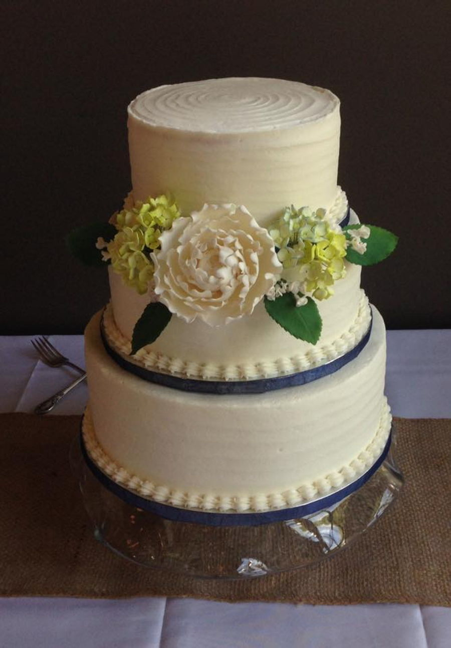 Rustic Wedding Cake on Cake Central