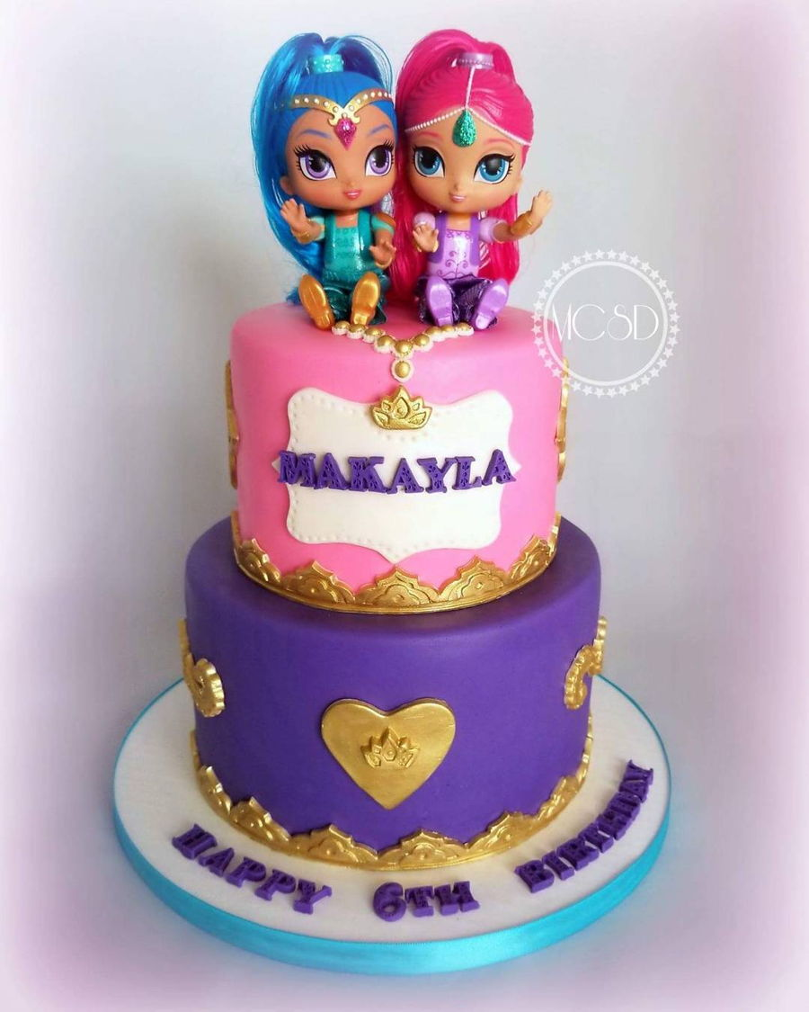 Shimmer And Shine Birthday Cake - CakeCentral.com