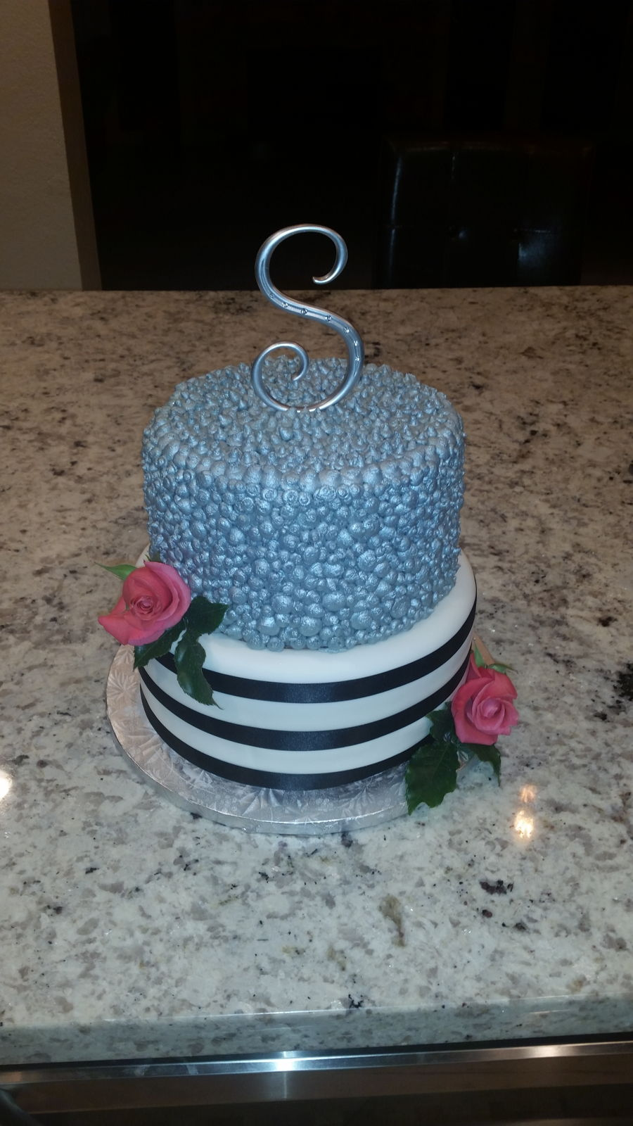 Simple Silver on Cake Central