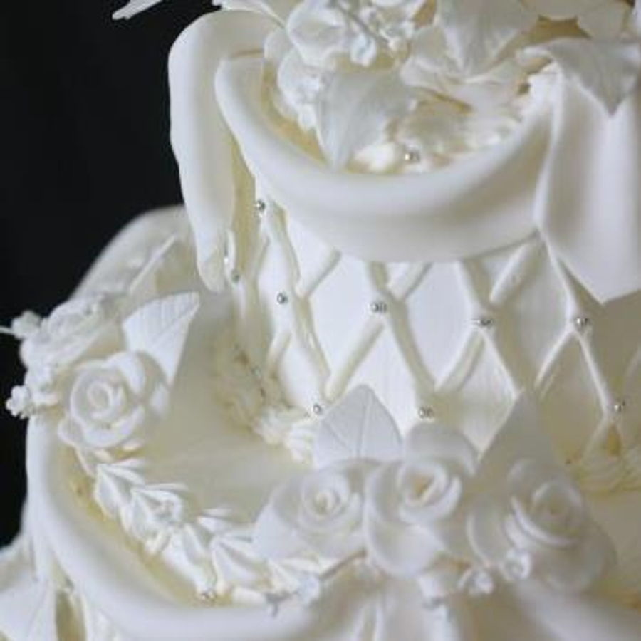 Traditional Old School Wedding Cake Cakecentral Com