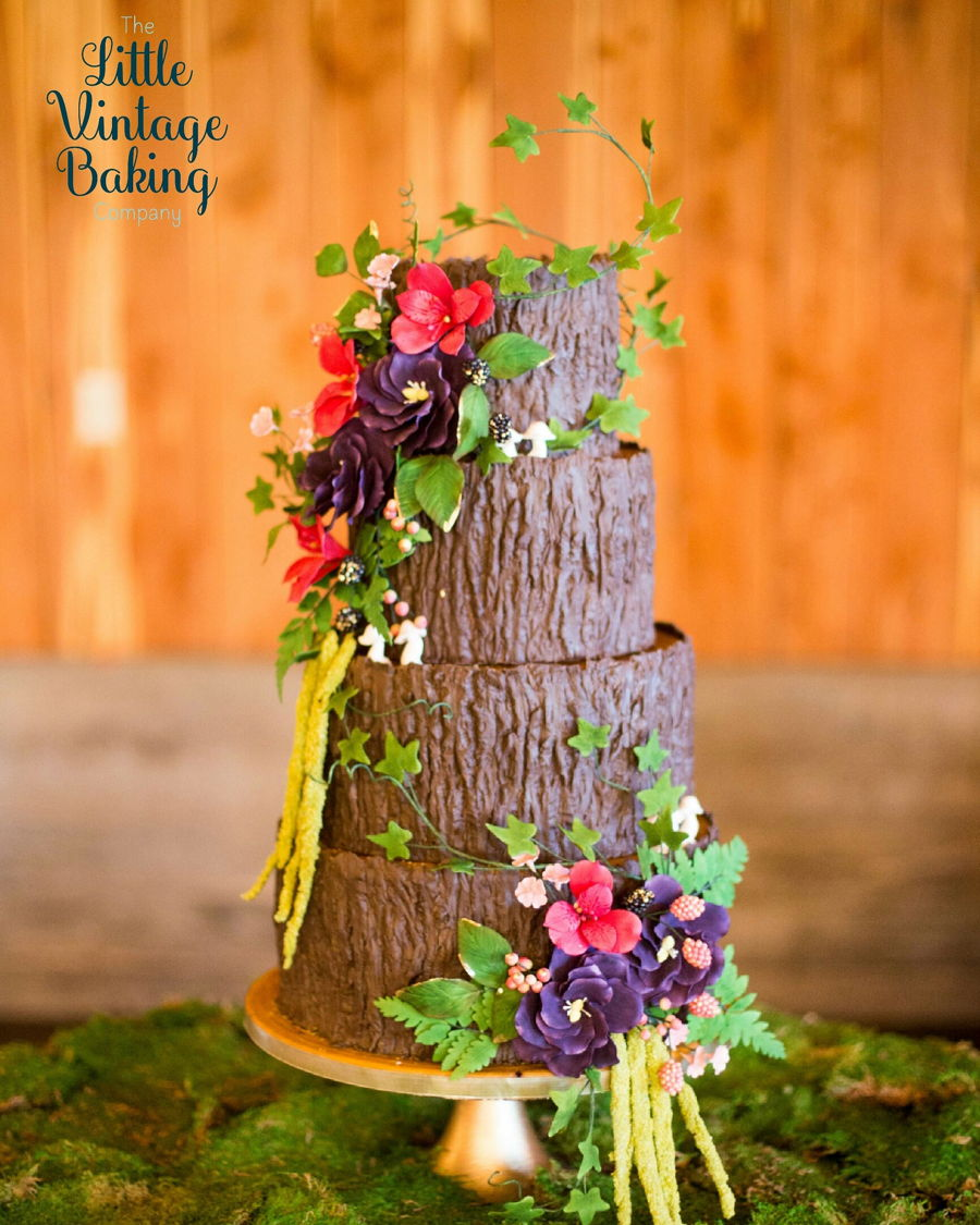 Tree Trunk Wedding Cake on Cake Central