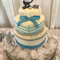3 Layer Wedding Cake Hi there! This is a cake I made for a friend. Cakes were vanilla white, used the super enhanced cake formula, love it. And used indydebi&#...