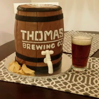50Th Bday Beer Barrel beer barrel cake