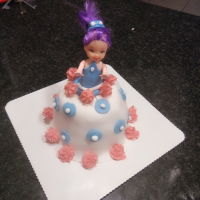 Baby Doll Cake Baby doll cake made of fondant
