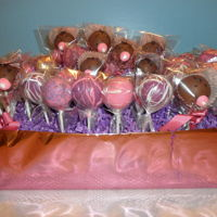 Baby Face Cake Pops Chocolate and strawberry cake pops for baby shower