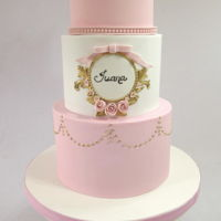 Baptism Cake For A Little Princess Gourgeous design inspired on one seen on the web for Juana´s baptism celebration.