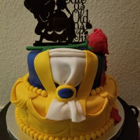 Beauty And Beast Cake Beauty and beast cake I did for a bridal shower.