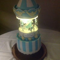 Carousel Birthday Cake Carousel cake with light included