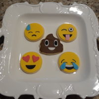 Emoji Cookies NFSC with fondant.