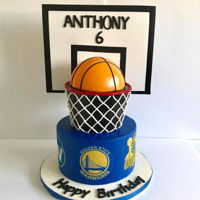 "Golden State Warriors 9"" + 6"" waterfall logos are edible images"