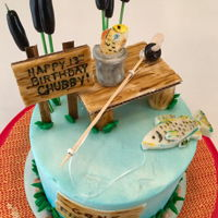 Gone Fishing Birthday Cake gone fishing cake