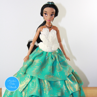 Jasmine Doll Cake Tutorial Jasmine doll cake tutorial