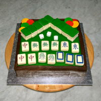 Mahjong Cake White Chocolate Mud Cake with Fondant and Edible Images