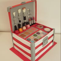 Make-Up Box Cake Makeup box cake