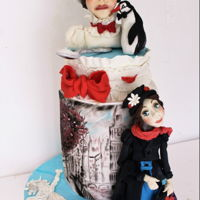 Mary Poppins Cake This is my piece for international collaboration is sculpted and hand painted , hope you like it!