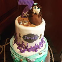 Mermaid Cake Chocolate cake with cookies and cream filling, made for my niece and she was a happy girl!
