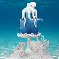 Octopus Cake This is my octopus cake for the Under The Sea Sugar Art Collaboration on Facebook.An octopus is one of the most fascinating creatures of...