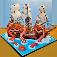 Pirate Ship Chocolate mud cake