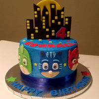 Pj Masks Cake PJ Masks cake for 4 year old boy