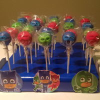 Pj Masks Cake Pops PJ Masks themed cake pops