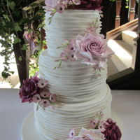 Pleated Wedding Cake Pleated wedding cake