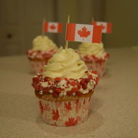 Red And White Cupcakes My cupcake entry in the Valley Gardeners Club horticultural show. The theme was celebratory red and white cupcakes to celebrate Canada&#039...