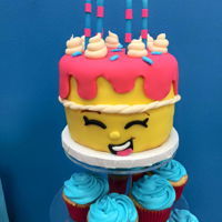 Shopkins Wishes Cake small Shopkins Wishes cake to place on top of a cupcake tower fro my daughter's birthday