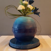 Sphere Cake With Wild Flowers Sphere cake