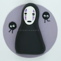 Spirited Away No-Face (Kaonashi) Cake Spirited Away No-Face (Kaonashi) Cake aka Cake-O-Nashi Chocolate cake with Vanilla buttercreamFondant cover and details. #baking #...