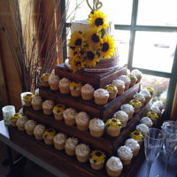 Sunflower Wedding Cake Cake and cupcakes